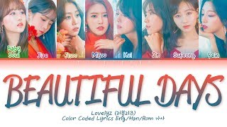 All rights administered by woolim entertainment • artist: lovelyz (러블리즈) song ♫: beautiful days (그 시절 우리가 사랑했던 우리) album: once upon a time released: 19...
