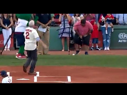 Ceremonial First Pitch Goes Horribly Wrong as Teen Hits Photographer in Groin