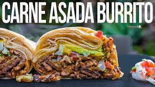 The Best Carne Asada Burrito | SAM THE COOKING GUY 4K