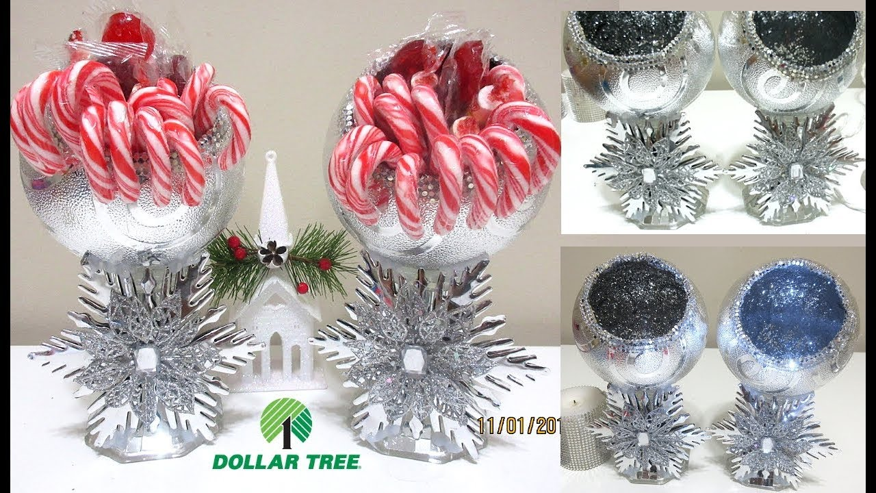 Diy Christmas Dollar Tree Candy Jars Candle Holder Diy Holiday Home Decor Youtube
