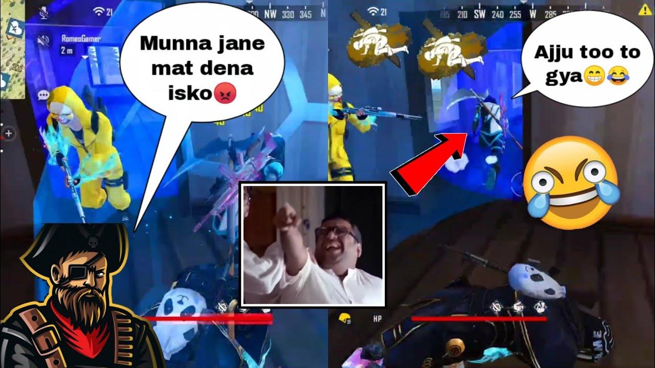 "Ajju bhai meme dialogue ""maar sale ko😂😳""  Total Gaming lol moment 😆 #shorts #freefire #ajjubhai"