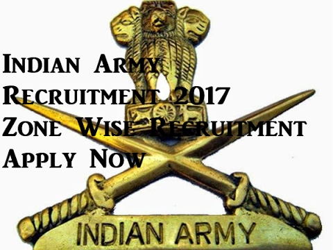 Indian Army Rally Recruitment 2017, 10th 12th  Graduation Apply