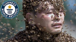 Heaviest mantle of bees // Guinness World Records Italian Show (Ep3)