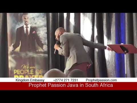 Prophet Passion Java in South Africa with his sons