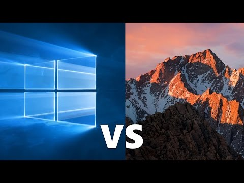 Comparing Windows 10 to macOS Sierra!