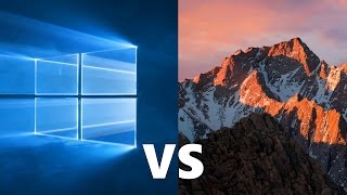 Comparing Windows 10 to macOS Sierra!