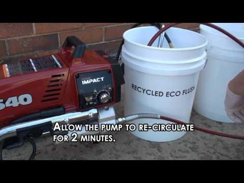 Flushing a Single Component Pump