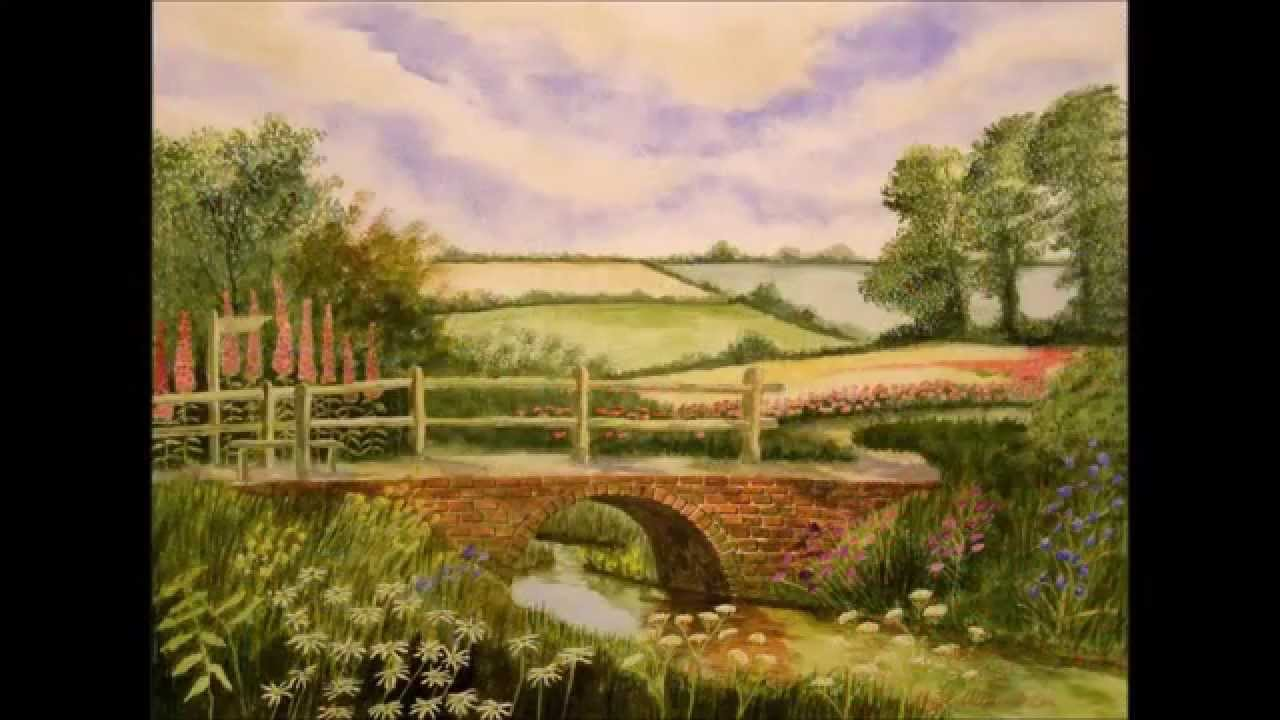 """Mike Donahue and Julie """"O"""" Group Present Nigel Coe Paintings of ... for Countryside Landscape Paintings  303mzq"""