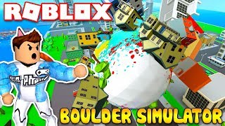 Roblox | KIA TURN Into SUPER BALL STICK HIS BOOK EVERYTHING-Boulder Simulator | Kia Breaking