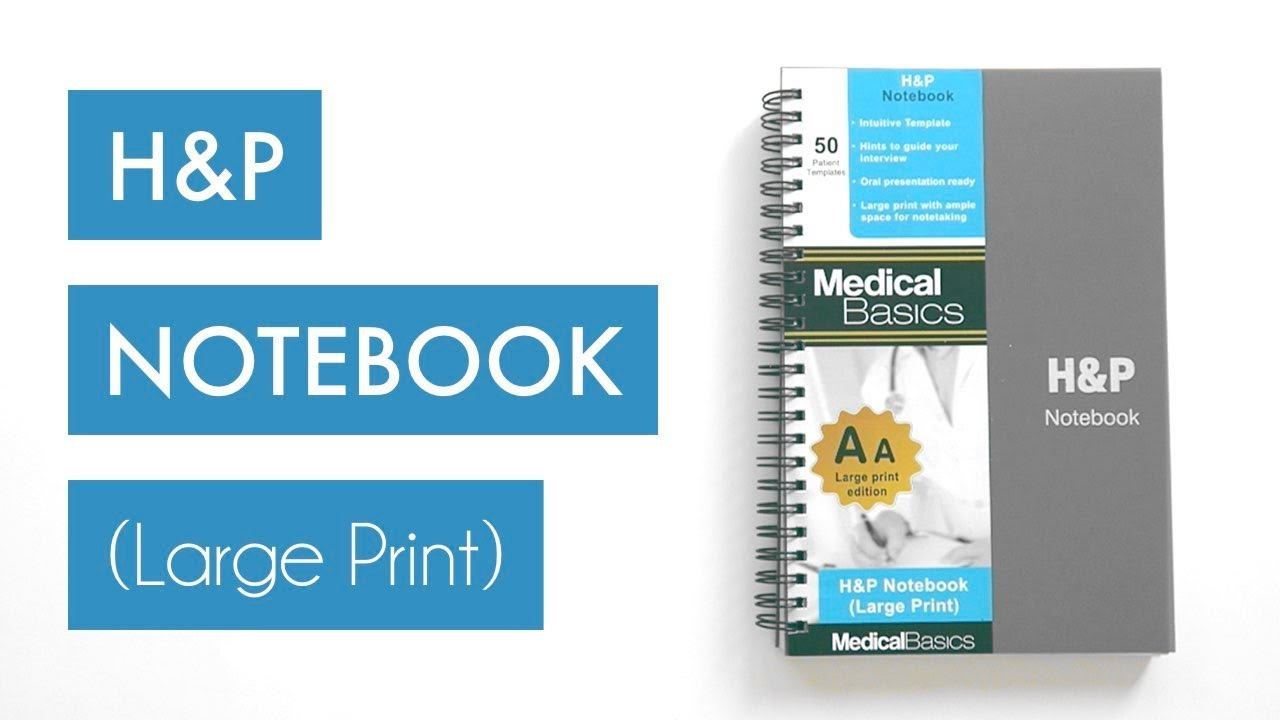 Large Print HP Notebook