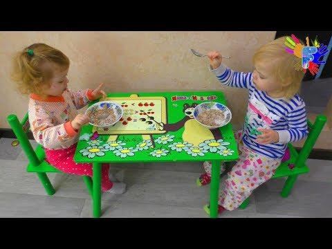 Мультфильм дети кушают