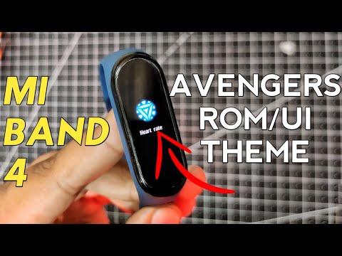 Mi Band 4 Avengers Custom ROM | Avengers UI Mi Band 4 | How to Flash Custom Theme on Mi Band 4 | Mi