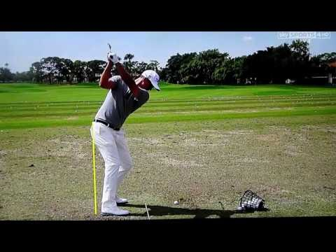 Adam Scott golf swing (down-the-line) analysed by Claude Harmon III of Sky Sports, February 2016