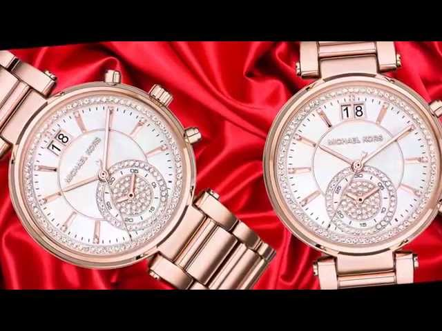 3775fcffd91a (VIDEO Review) Michael Kors Women s Sawyer Rose Gold-Tone Watch MK6282