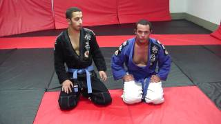 Brazilian Jiu Jujitzu Passing Guard into Side Control