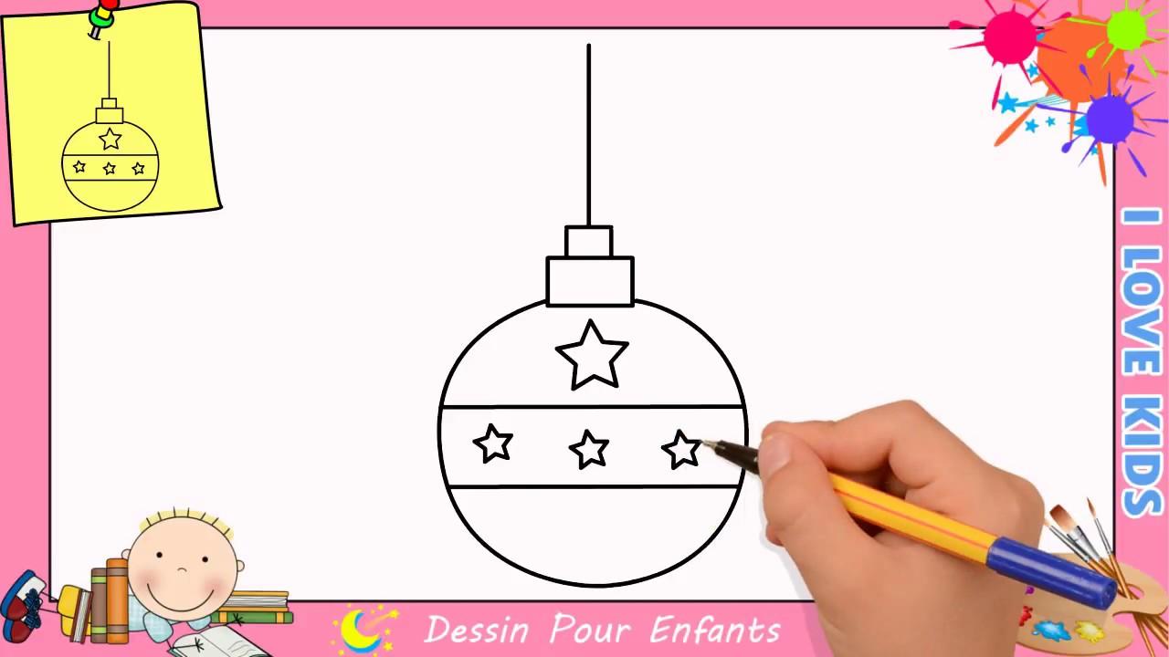 Dessin De Boule De Noel.Dessin Boule De Noel Facile Comment Dessiner Une Boule De Noel Facilement 1