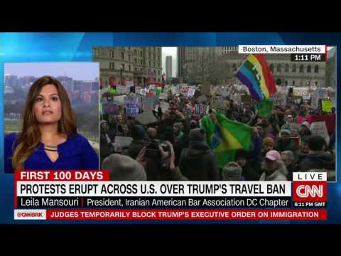 Iranian American says her 70 year old relative has been detained over Trump's immigration ban