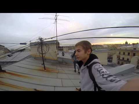 Руферы забрались на Дом Книги | Singer House Roof | Штаб-квартира Вконтакте
