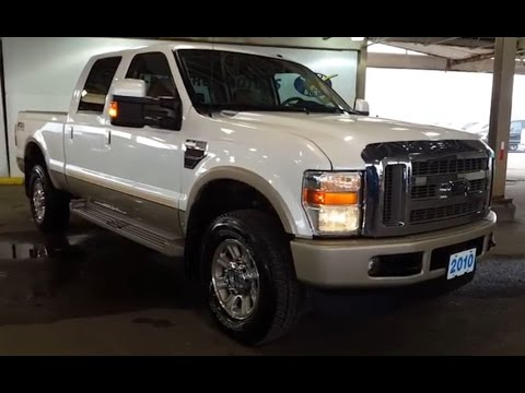 2010 White Ford Super Duty F-350 SRW 4X4 Crew Cab King Ranch FX4 |Review | PG Motors