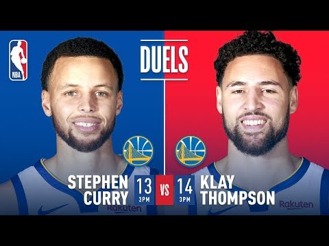 Two HISTORIC Performances – Steph Curry's 13 Threes in 2016 & Klay's 14 Threes in 2018 | NBA Duels