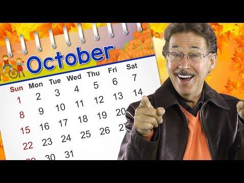 October  Calendar  for Kids  Jack Hartmann