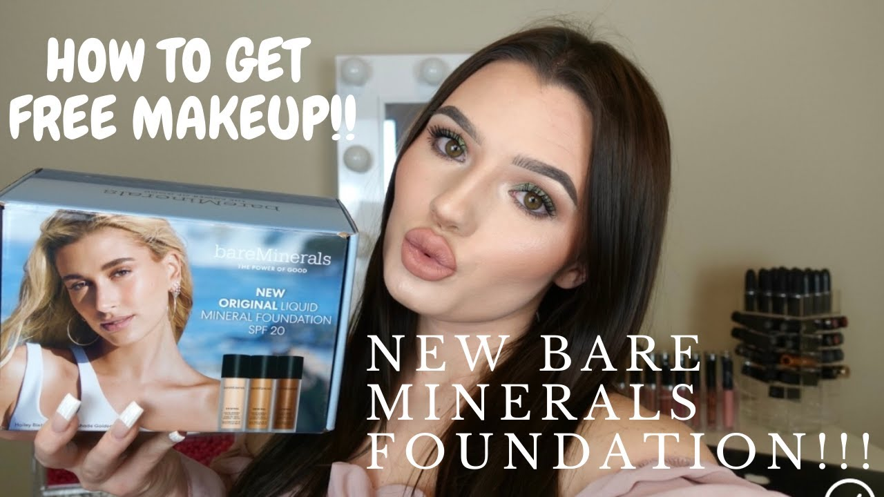 NEW BARE MINERALS FOUNDATION | HOW TO GET FREE MAKEUP WITHOUT BEING AN INFLUENCER