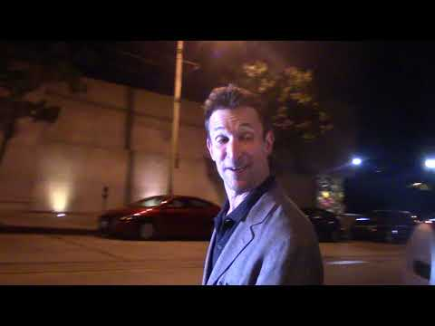 Noah Wyle gives an update on George Clooney after his scooter accident outside Craigs in West Hollyw
