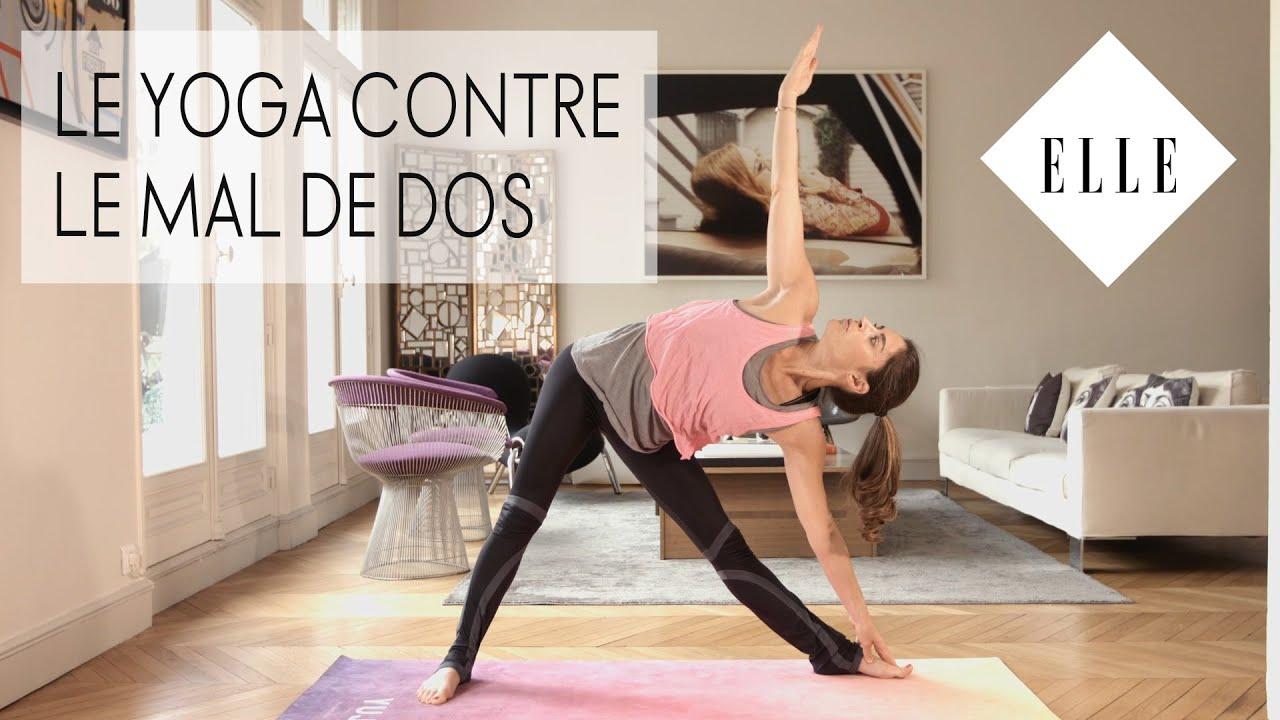 le yoga contre le mal de dos elle yoga youtube. Black Bedroom Furniture Sets. Home Design Ideas