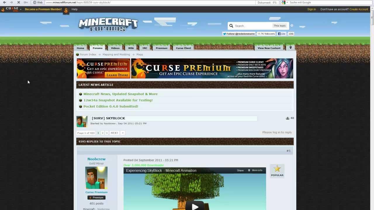 Wie Spiele Ich Die Minecraft Map Skyblock TUT YouTube - Minecraft skyblock kostenlos spielen ohne download