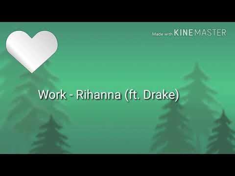 Rihanna (ft. Drake)  Work (letra pronunciación)