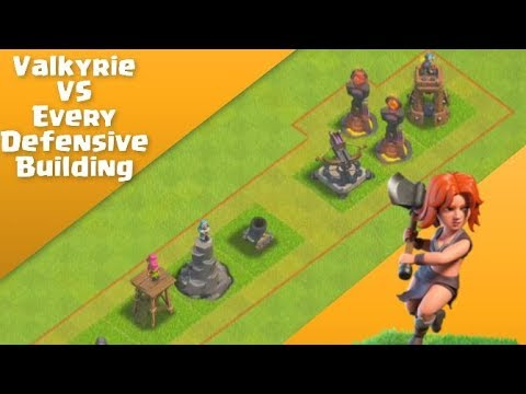 Valkyrie Epic Strength Test   Clash Of Clans