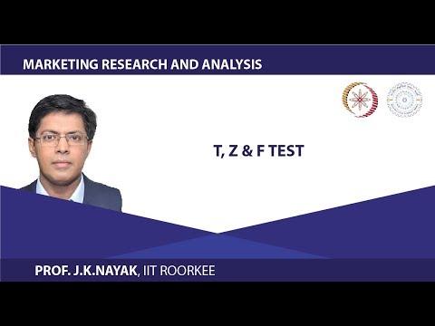 Lecture 20- T, Z U0026 F Test