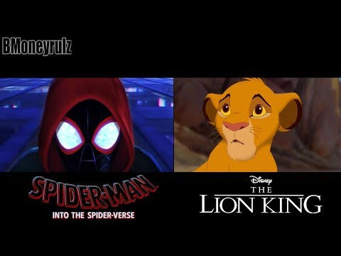 SPIDER-MAN INTO THE SPIDER-VERSE Side-By-Side W/ Trailer 2