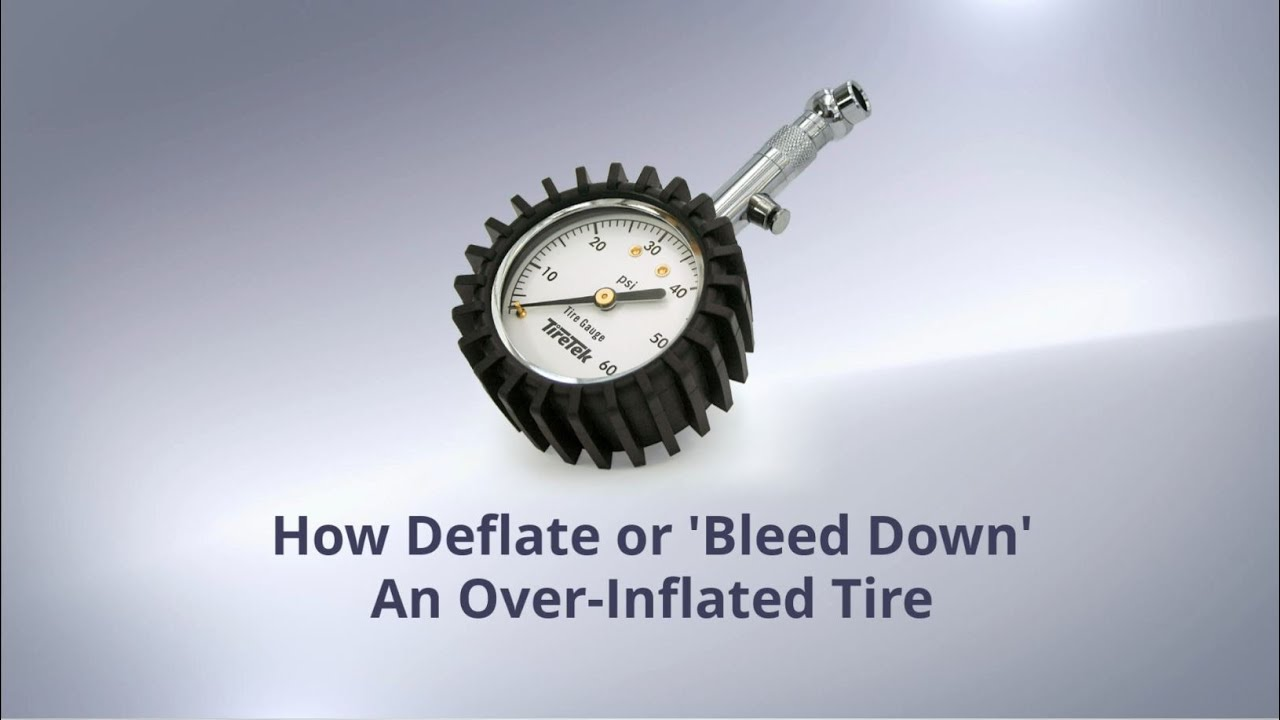 How To Reduce Or Bleed Down Tire Pressure With The Tiretek Premium