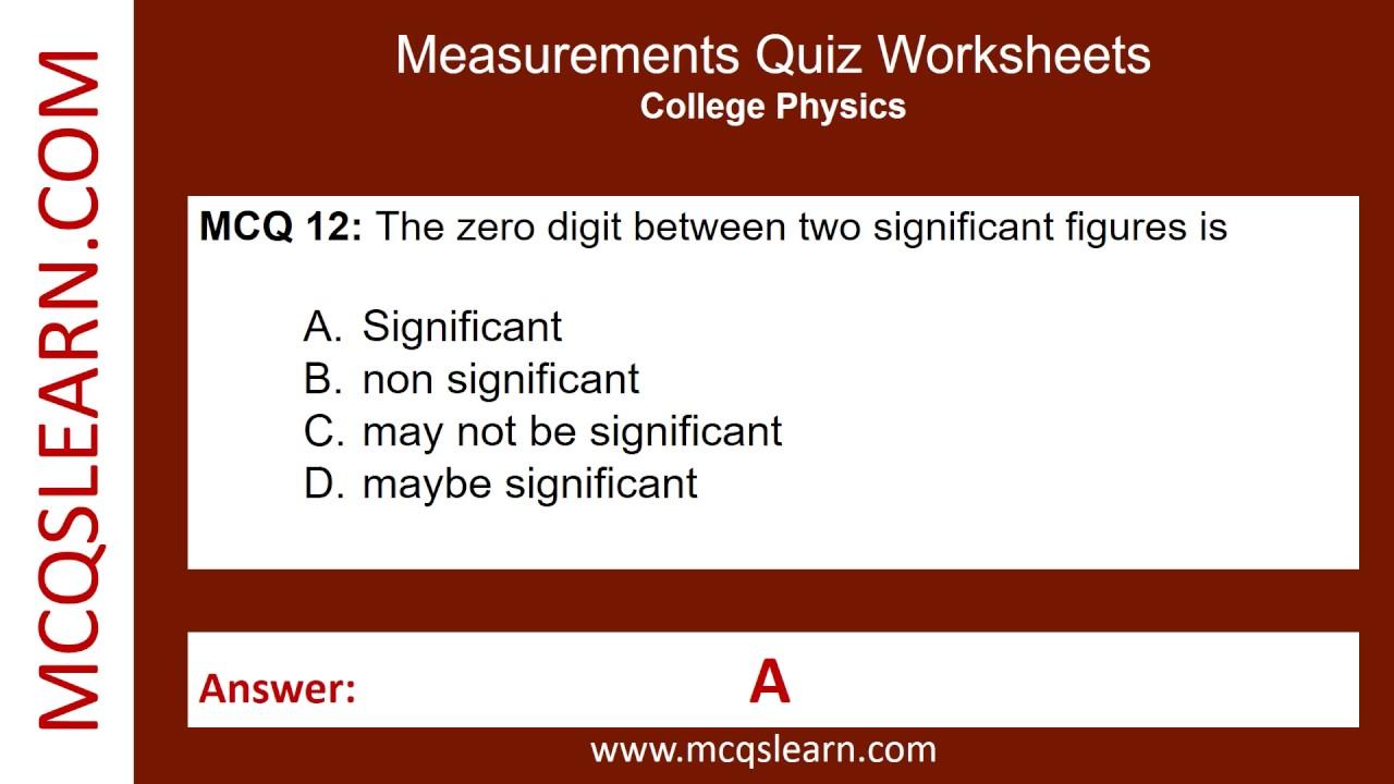 Workbooks quiz worksheets : Measurements Quiz Worksheets - MCQsLearn Free Videos - YouTube