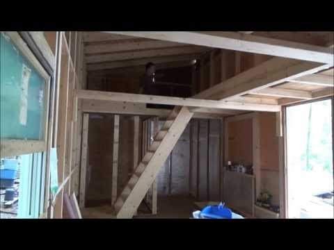Finished Tiny House Stairwell And More Insulation S1