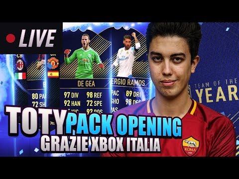 TOTY MEGA PACK OPENING! GRAZIE XBOX ITALIA! E FACCIAMO LE VOSTRE SQUADRE!