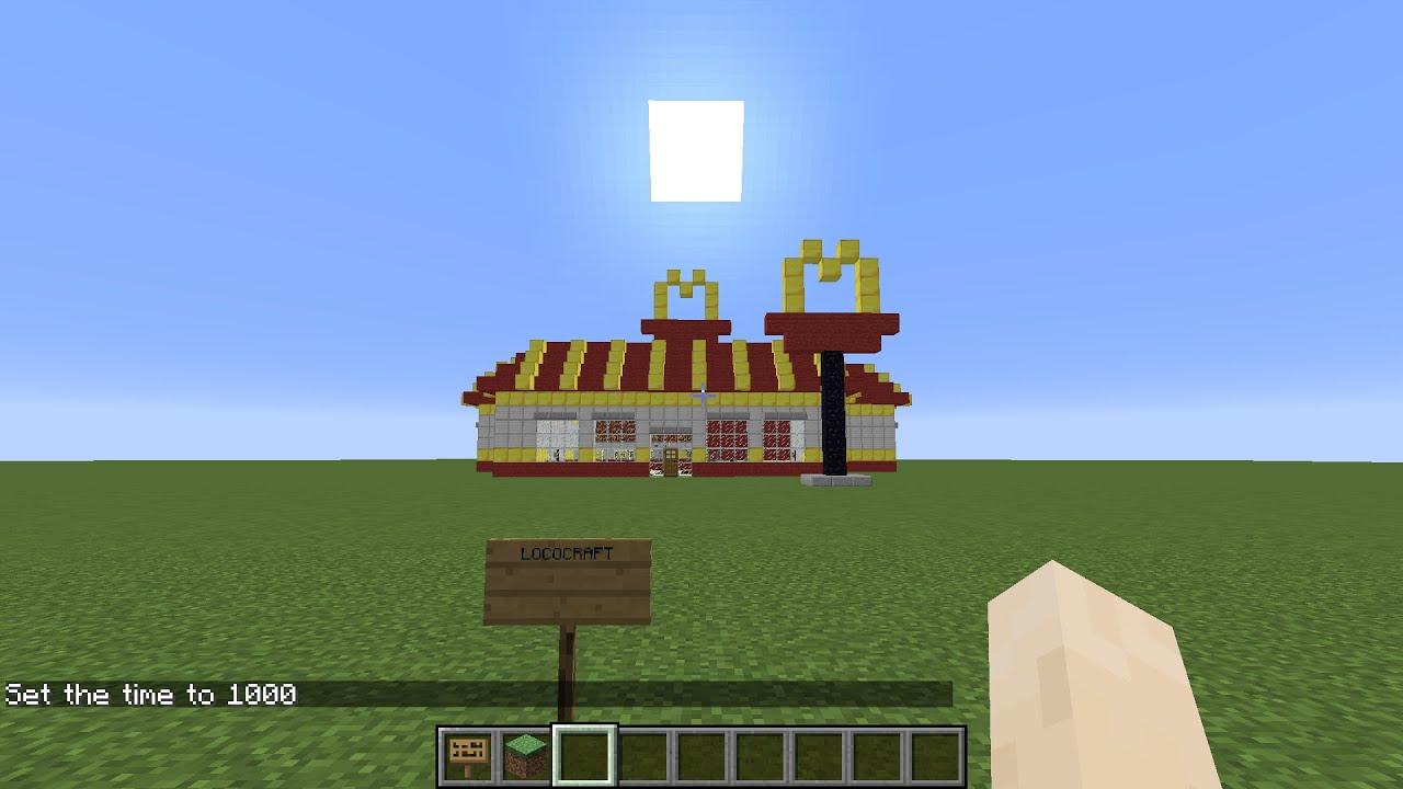 How To Build A Minecraft Mcdonald S