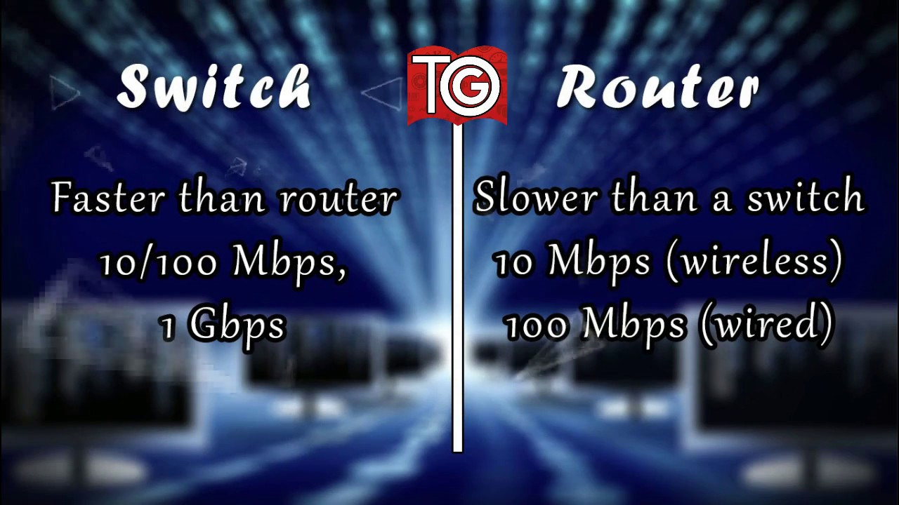 Switch Vs Router in Gujarati - Difference between Switch and Router ...