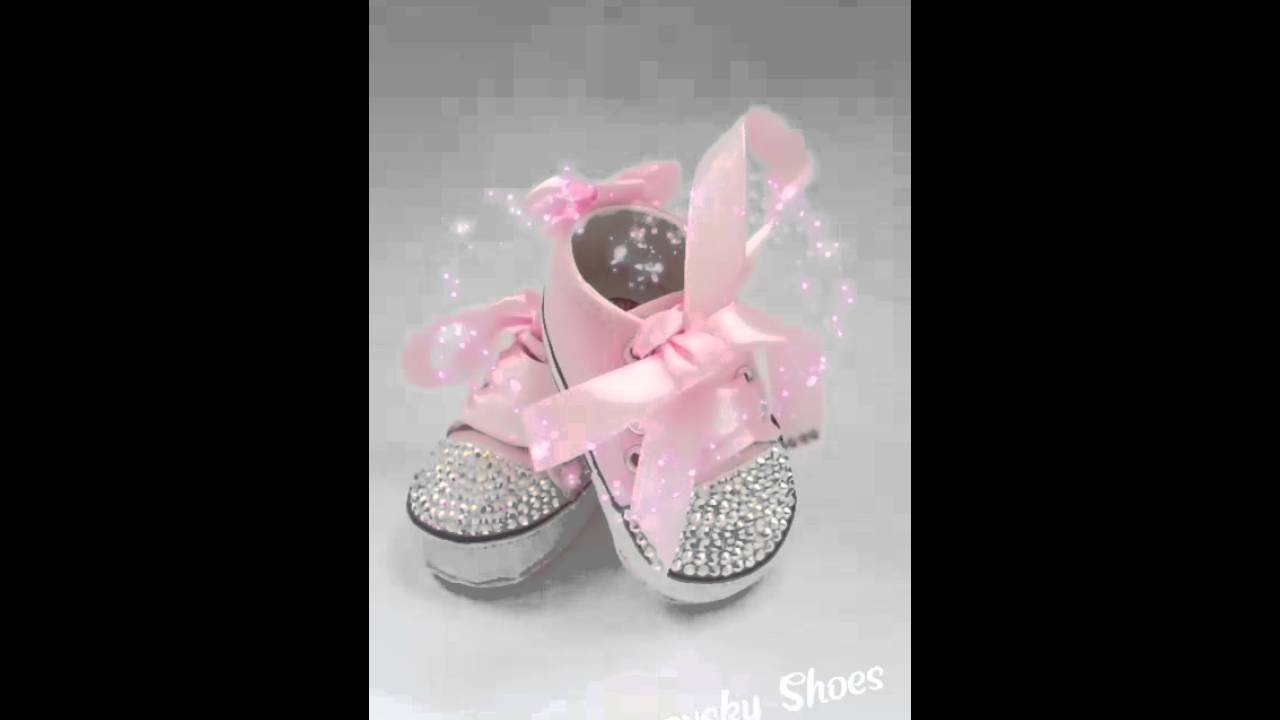 Crystal Pink Converse Baby Zapatos Shoes Swarovski Bebé Pedrería X0OknP8w