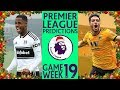 EPL Week 19 Boxing Day Premier League Score and Results Predictions 2018/19