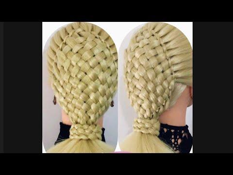 ELEGANT BASKET BRAID PONYTAIL HAIRSTYLE   / HairGlamour Styles /  Hair style thumbnail