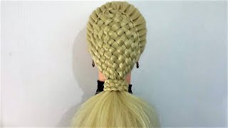 ELEGANT BASKET BRAID PONYTAIL HAIRSTYLE   / Hair Glamour /  Hairstyles