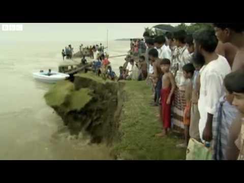 River bank erosion in Bangladesh