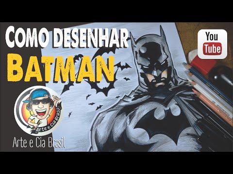 Como Desenhar O Batman Passo A Passo Youtube