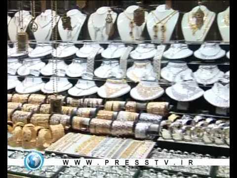 Gold and jewlery in Tehran presstv
