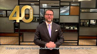 40th Anniversary Message | InterContinental Regency Bahrain