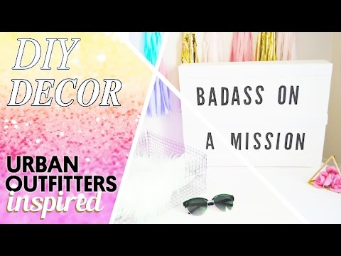 URBAN OUTFITTERS INSPIRED DECOR // DIY ROOM DECOR 2016