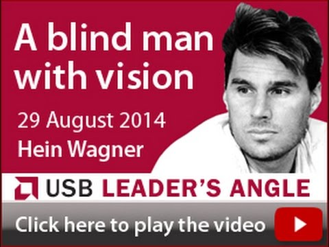 A blind man with vision
