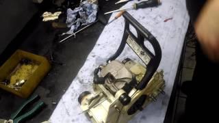 Stihl ms 180 ремонт! сборка,замена масляного шланга,проверка карбюратора